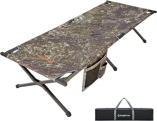 KingCamp Cama de Camping Plegable portátil de Aluminio con Bolsa de Transporte