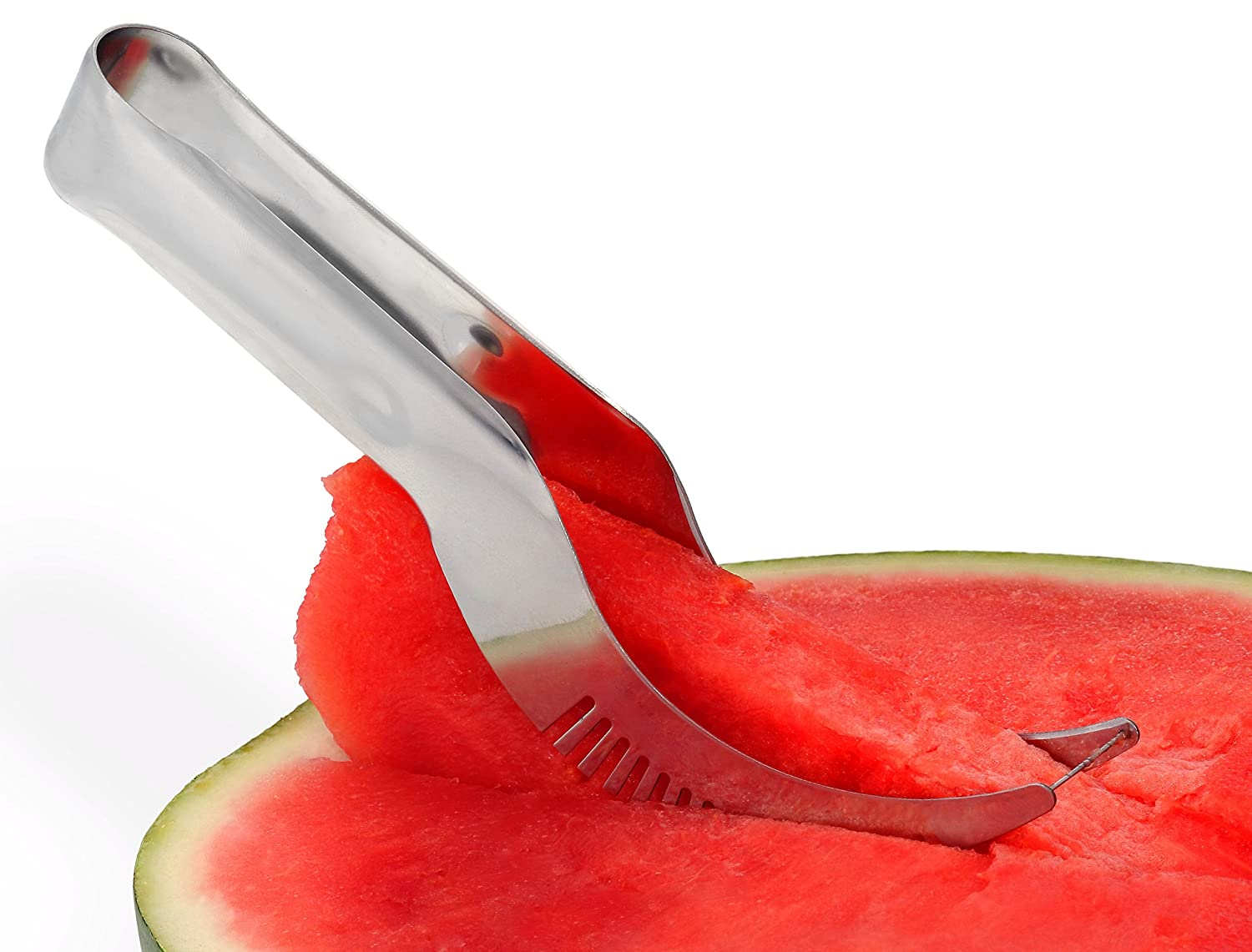 Watermelon Slicer Cutter & Server - Stainless Steel - Professional Grade - Dishwasher Safe - Perfect Gift for Family & Friends - FASTEST and EASIEST way to ENJOY your fruit PMC Quality Products YWS2721