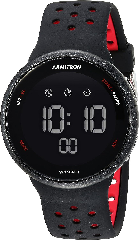 Armitron Sport Unisex 40 8423 Digital Chronograph Silicone Strap Watch