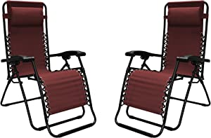 Caravan Sports 80009000172 Infinity 2 Pack, Burgundy Zero Gravity Chair