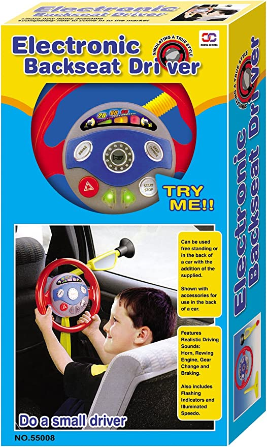 """28/"""" Electronic Backseat Driver NEW kids Perfect steering wheel w// sounds /& light"""
