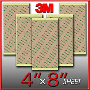 """3m 300lse 4"""" X8"""" Heavty Duty Double Sided Sticky Adhesive Sheet Tape High Bond Transfer Tape Ideal for Attaching Digitizers to Phones and Tablets (1 sheets 4""""x8"""")"""