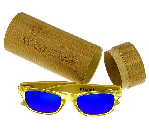 Wood Trend Gafas de Sol de Madera Miami: Amazon.es: Deportes y aire libre
