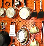 Wall Control 30-P-3232OR Orange Metal Pegboard Pack