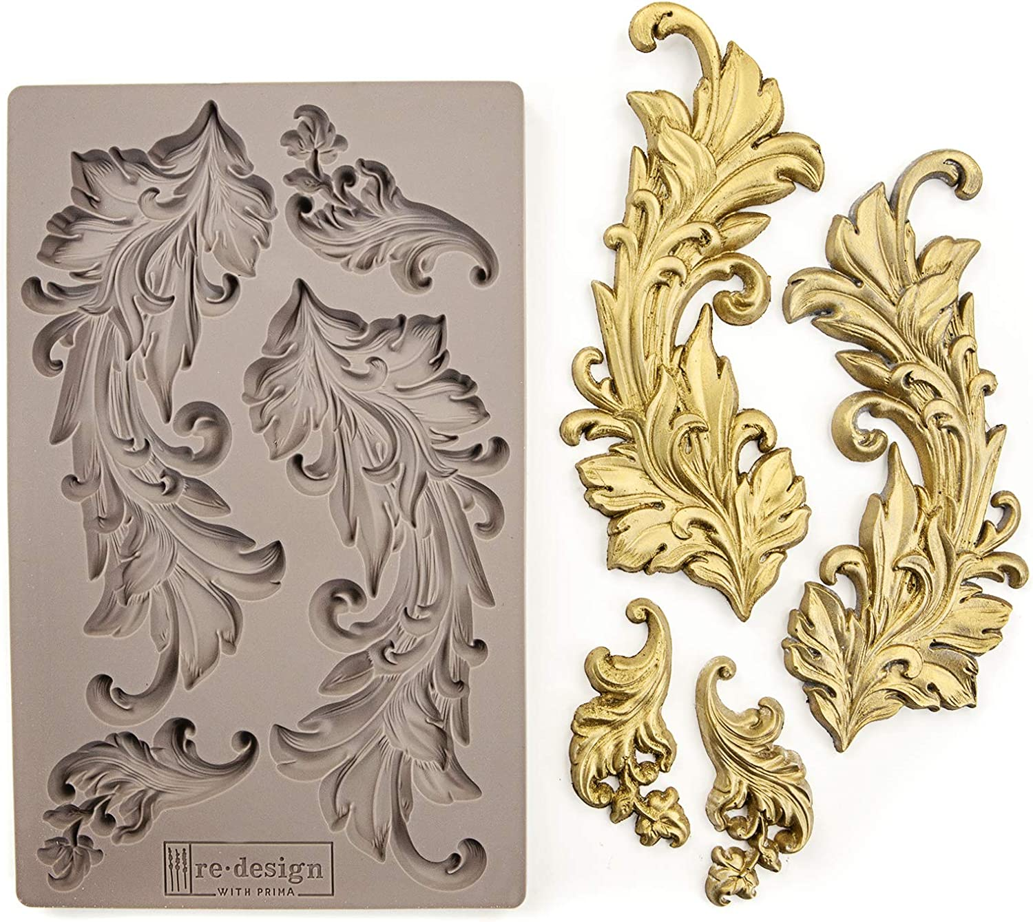 Redesign Mould - Baroque Swirls