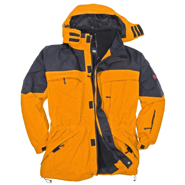 3in1 Jacke Davos in Übergröße gelb