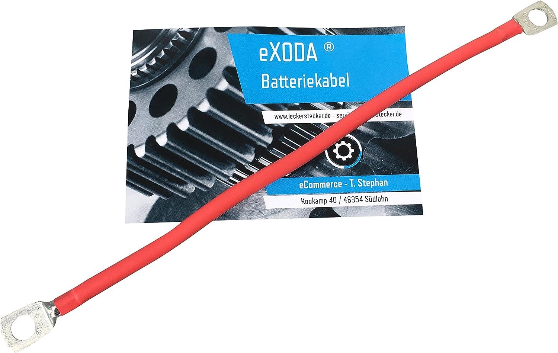 Exoda Batteriekabel Set 35 Mm 50cm Kupfer Stromkabel Mit Ringösen M8 Rot Und Schwarz Auto
