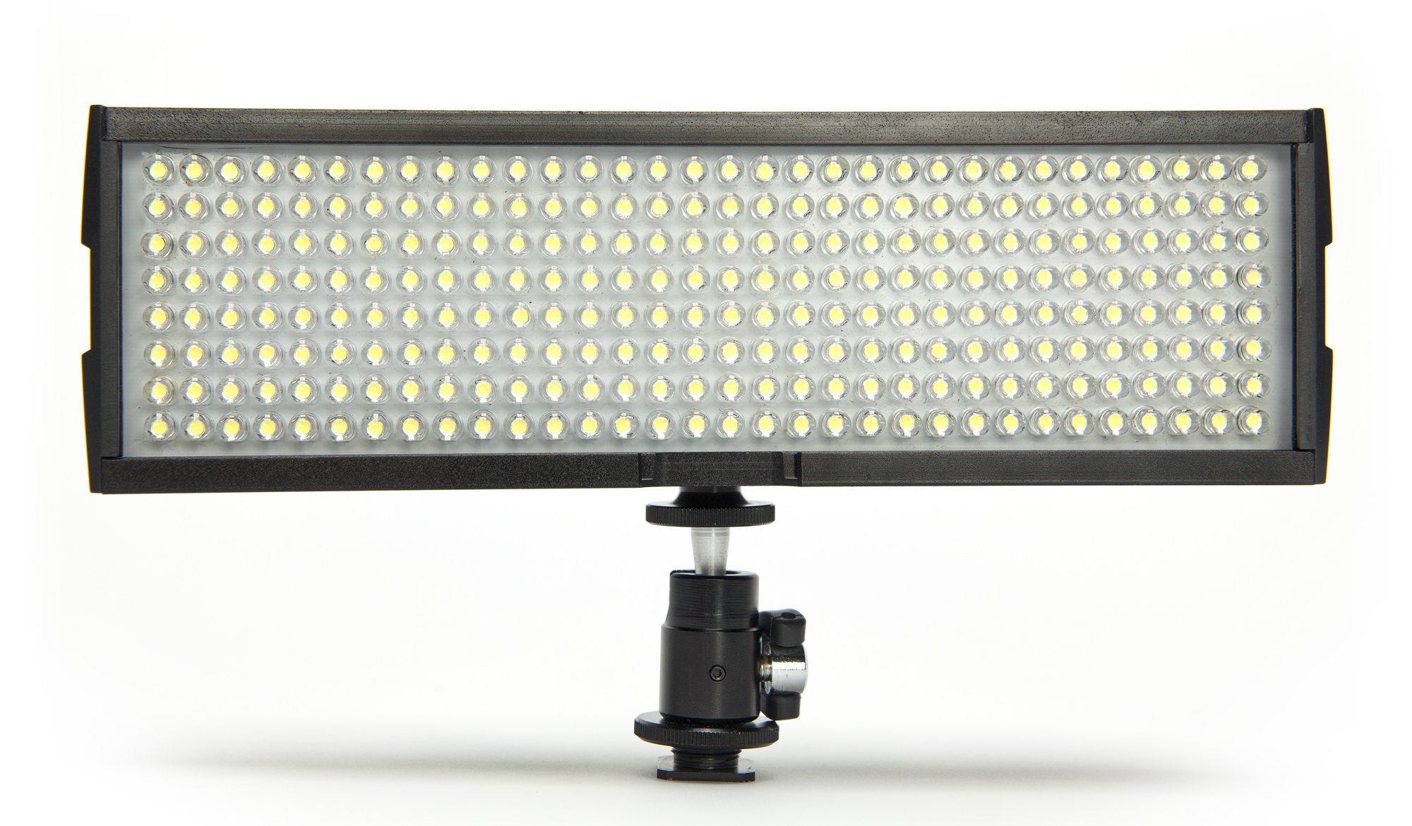 Digital Juice Miniburst 256: Portable, Dimmable 200W LED Video Light for Studio,Wedding, YouTube,Product Photography,Video Shooting w/Warming Filter and Soft Diffuser,3200-4200K,w/Hotshoe Swivel by Digital Juice