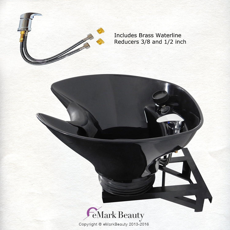 Shampoo Bowl Sink with a Tilt Mechanism Salon Spa Equipment TLC-B36-WT eMark Beauty TLC-B13-WT