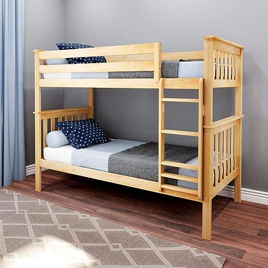 Amazon Com Max Lily Bunk Bed Twin Natural Furniture Decor