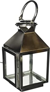 Home Locomotion Small Stainless Steel Candle Lantern