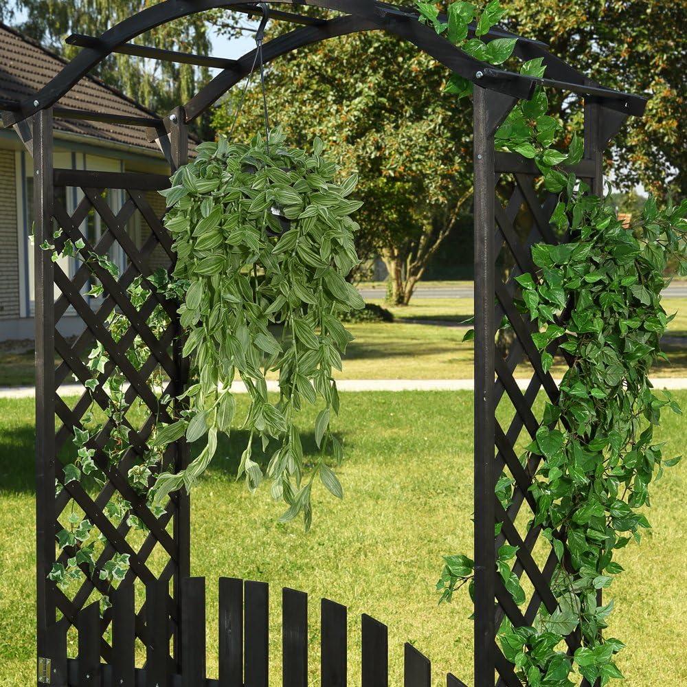 Arco Negro – Puerta Pergola + puerta madera Rose Rank ayuda ...