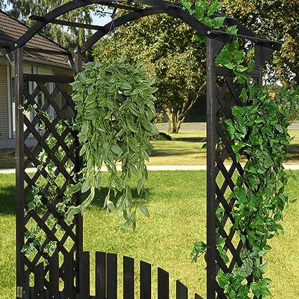Arco Negro – Puerta Pergola + puerta madera Rose Rank ayuda enrejado enrejado