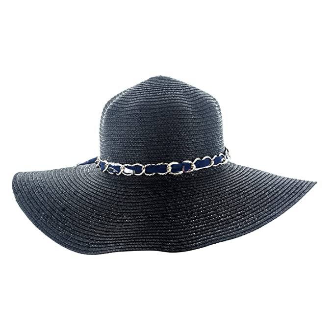 b2b90471caa Faddism Womens Woven Sun Hat With Chain Hatband at Amazon Women s Clothing  store