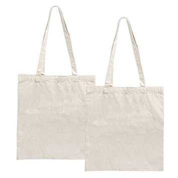 LEMESO Plain 10oz Natural Cotton Canvas Tote Shopper Bag for Women Eco  Friendly Handy Shoulder Bag 2e29f3651