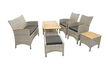 Ploß Outdoor Furniture Vigo Lounge de Juego, Gris de Natural, 378 x 275 x