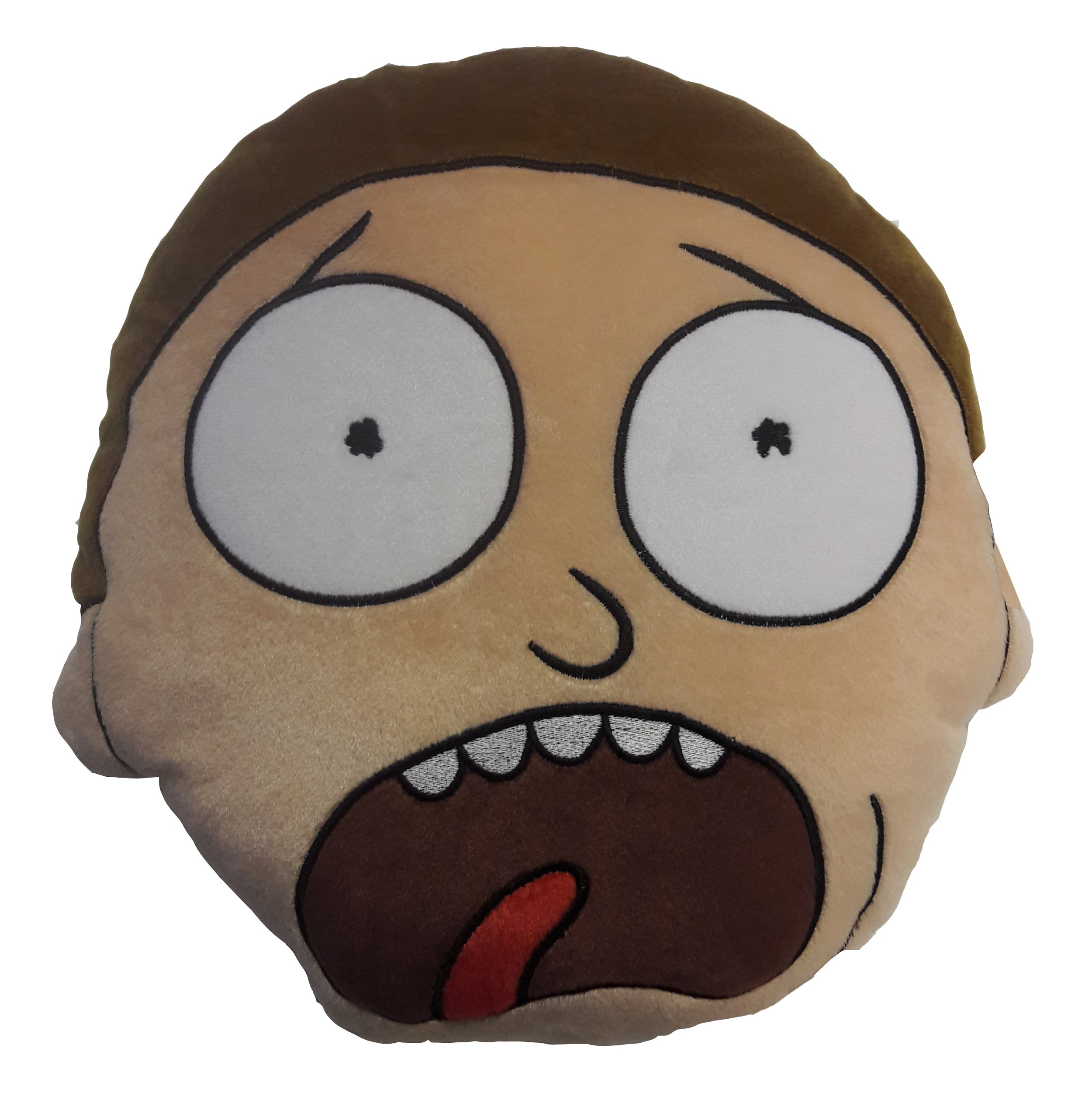 RICK AND MORTY Embroidered Shaped Cushion - Morty by RICK AND MORTY
