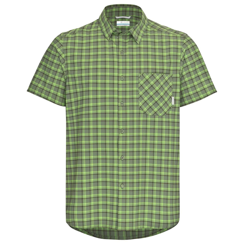 Columbia Triple Canyon SS Shirt Men Mosstone Plaid 2018 Kurzarmshirt
