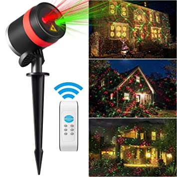 Christmas lights, Red and Green 8 Patterns Waterproof Outdoor Laser  Projector Light with Remote Control - Amazon.com: Christmas Lights, Red And Green 8 Patterns Waterproof