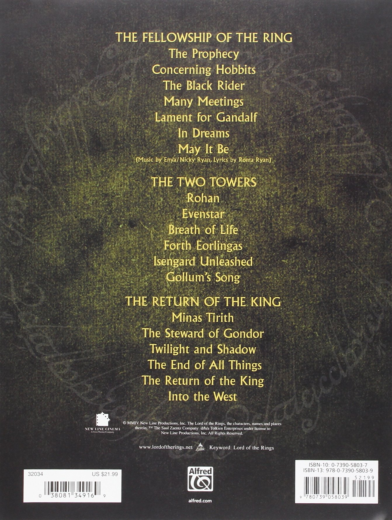 The Lord Of The Rings Trilogy Music From The Motion Pictures