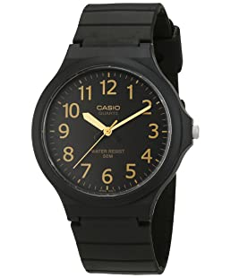 Casio Reloj Analogico para Hombre de Cuarzo con Correa en Resina MW-240-1B2VEF