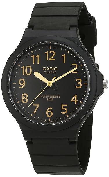 Casio Reloj Analogico para Hombre de Cuarzo con Correa en Resina MW-240-7BVEF: Amazon.es: Relojes