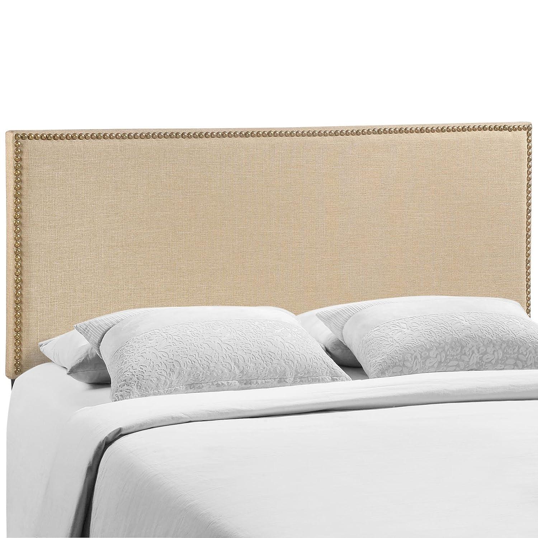 Café Queen Modway Region Nailhead Upholstered Headboard, Twin, Ivory