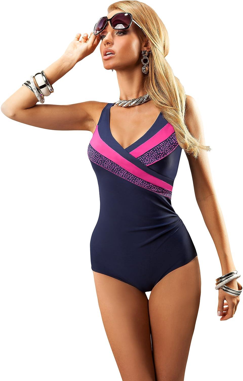 aQuarilla Maillot de Bain Femme 1 pièce Vêtement Plage Été Femme 93L1N4   Amazon.fr  Vêtements et accessoires 507181034b67