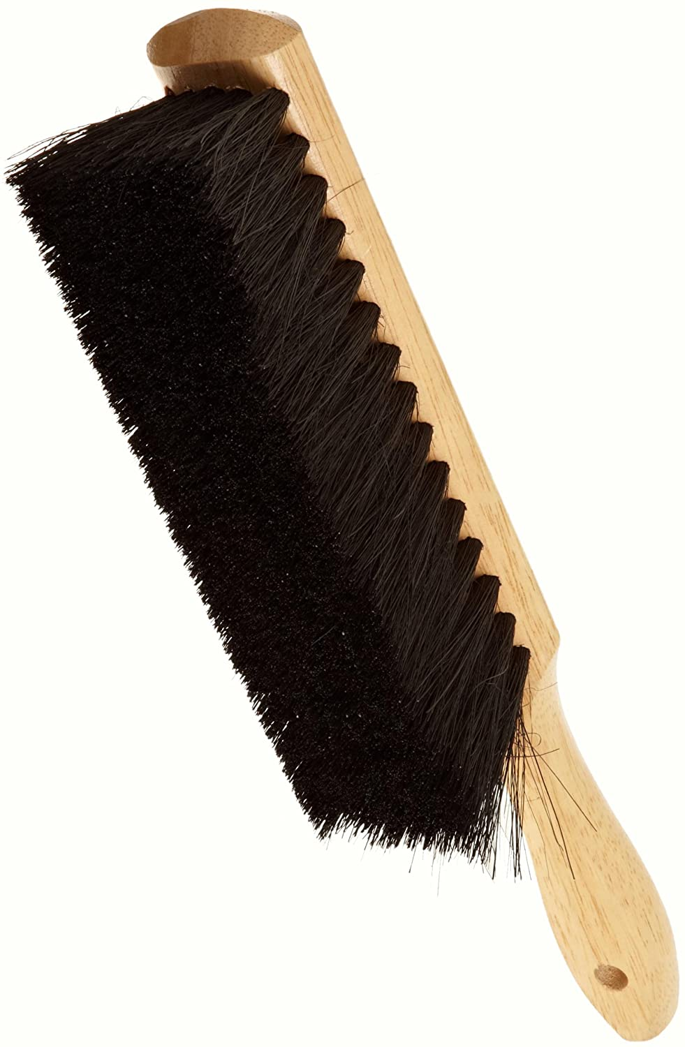 Weiler 44003 Horsehair Counter Duster with Wood Handle, Horsehair Fill, 2-1/2