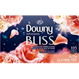 Downy Infusions Fabric Softener Dryer Sheets, Sparkling Amber & Rose, 105 Count - Packaging May Vary