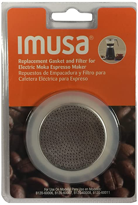 IMUSA USA SP-99405 Replacement Gasket & Filter for IMUSA Electric Moka/Espresso Maker