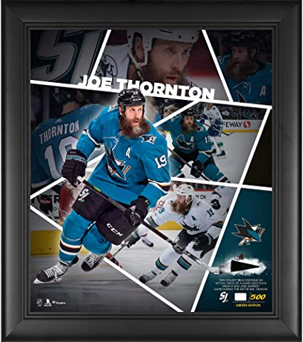 138ff7bdd Joe Thornton San Jose Sharks Framed 15 quot  x 17 quot  Impact Player  Collage with a