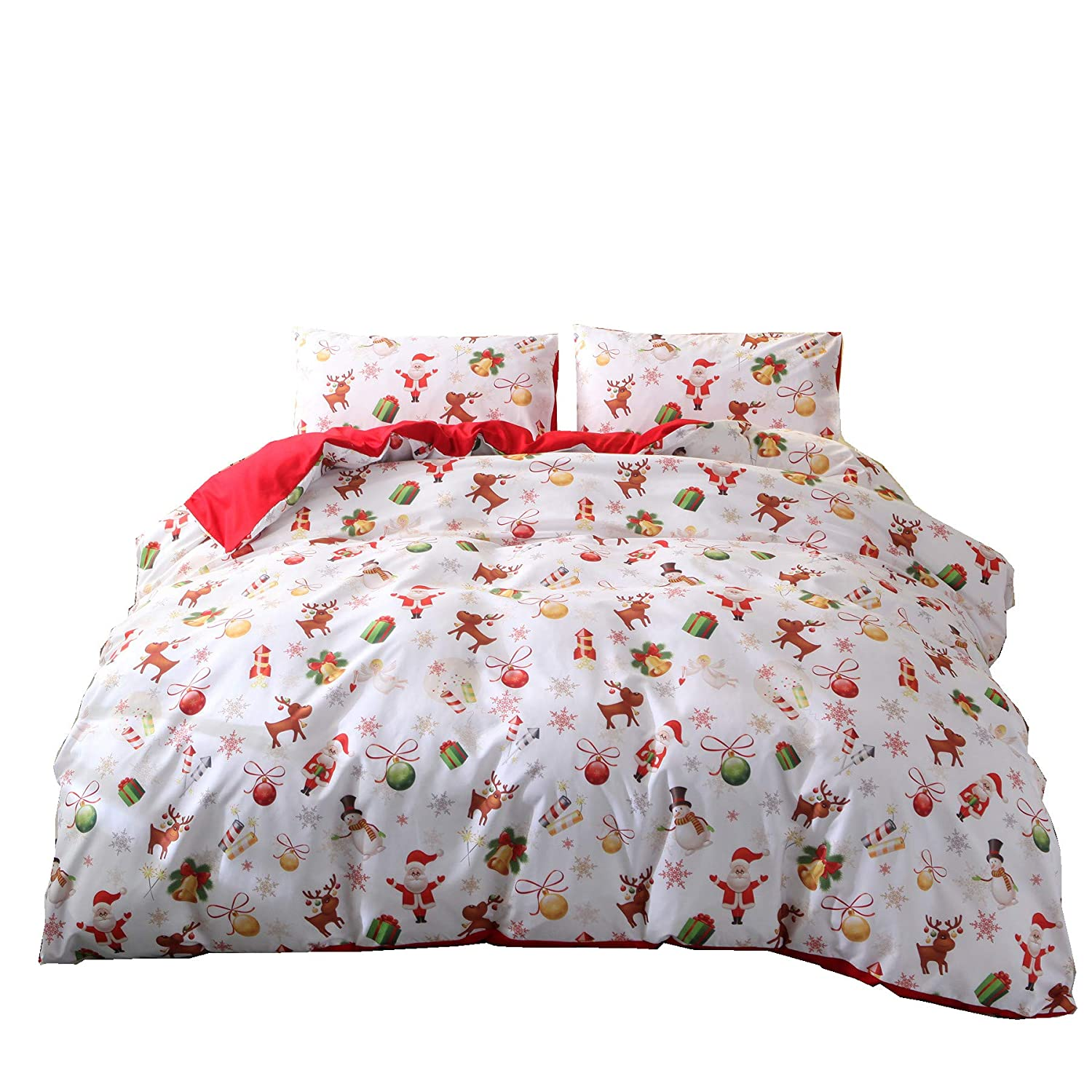 Amazon A Nice Night Christmas Deer Printed Bedding Sets Quilt