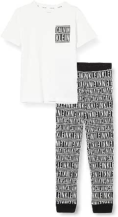 Tommy Hilfiger Knit PJ Set (SS+Cuffed Pant) Juego de Pijama para Niños