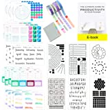 Ultimate Productivity Journal Supplies Kit - 31 Piece Set, Custom-Designed Supplies for Bullet Dotted Journals, Includes Stic