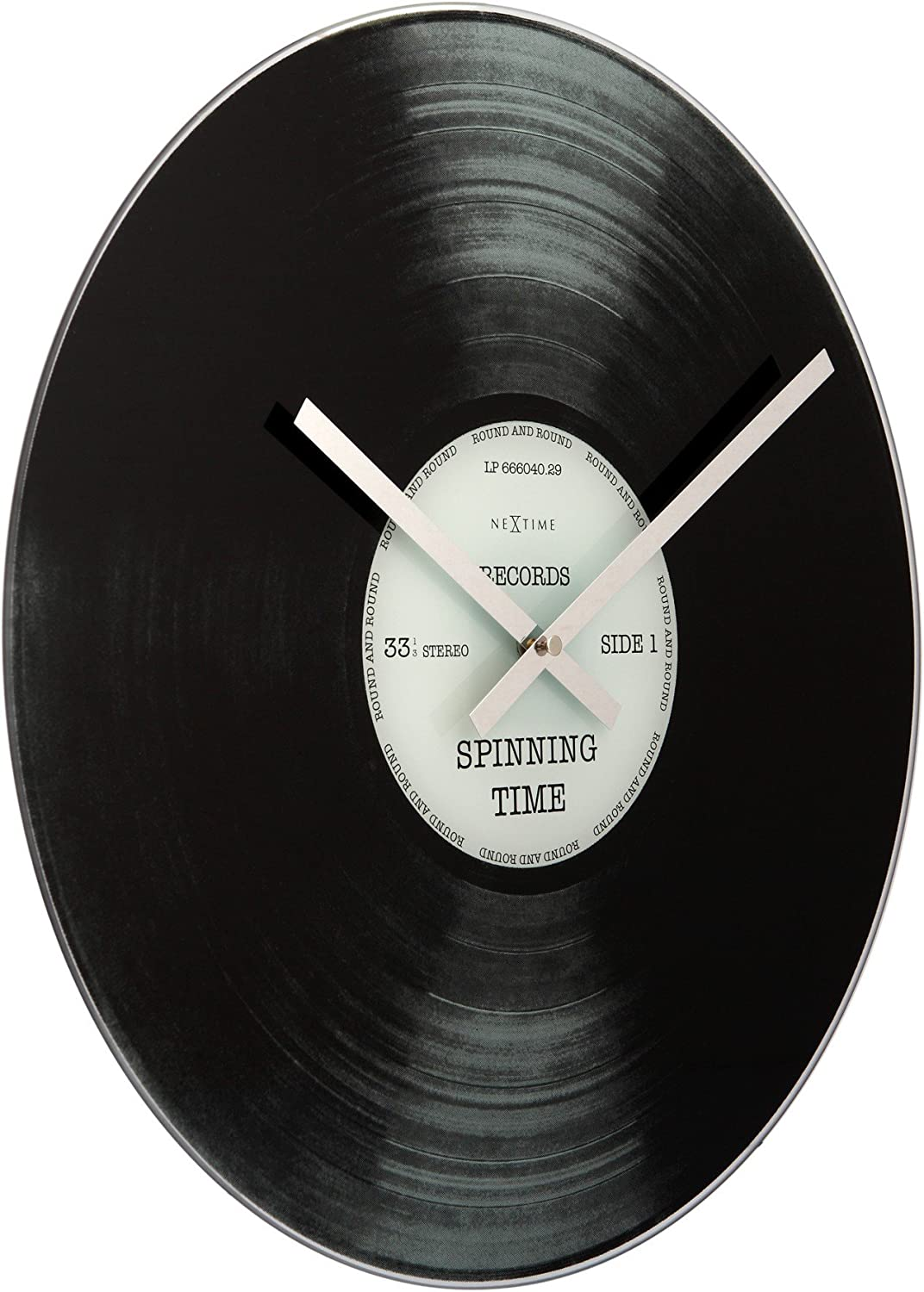 Abbott Collection Home Spinning Time Wall Clock 17 Inch Amazon Ca Home Kitchen