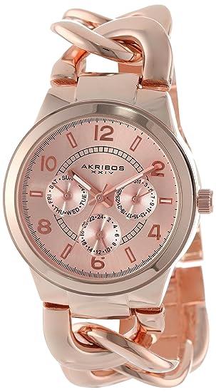 Akribos XXIV Reloj con movimiento cuarzo japonés AK531RG 31 mm: goldia: Amazon.es: Relojes