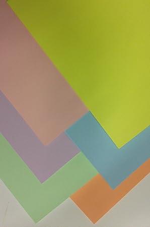 Pastel Card A4 Mixed Pastel Card 60 Sheets 160gsm 6 Shades A4 Printer Copier