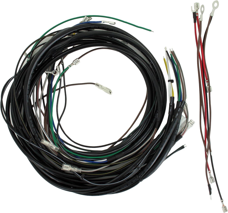 Aka Electric Kabelbaumset Basisausstattung Mit Schaltplan Für Simson S51 S70 Auto