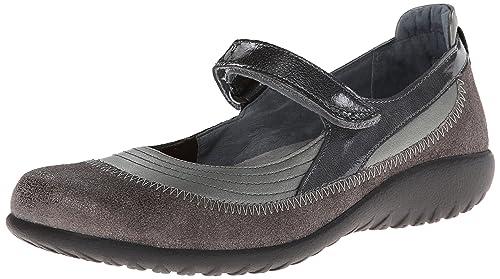 fc898fe8c343 Naot Footwear Women s Kirei Maryjane Metal Leather Vintage Gray  Leather Pewter Leather- 35
