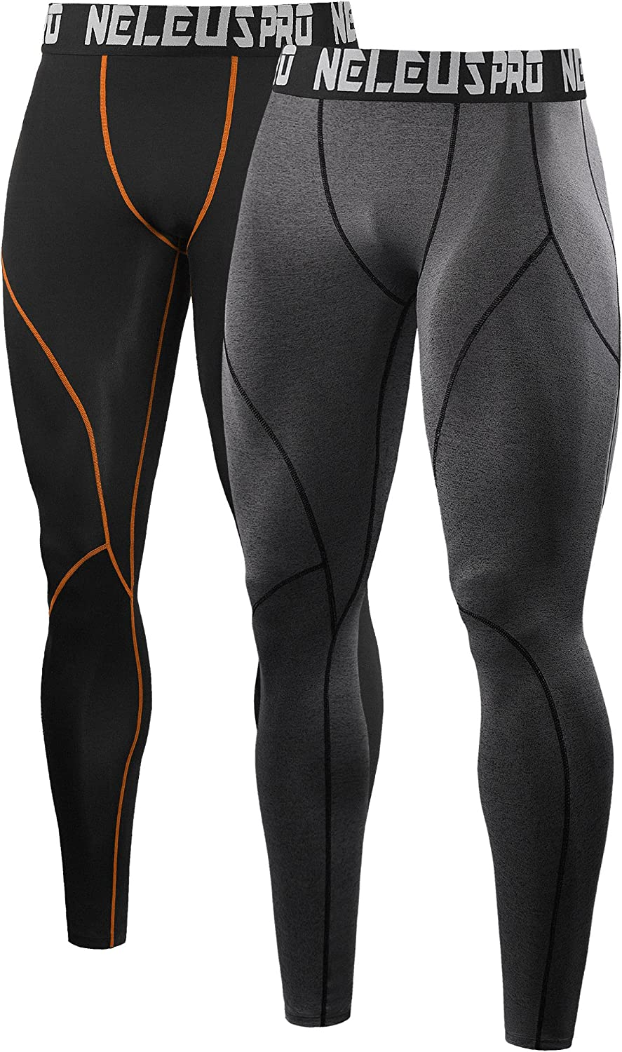 Neleus Men's Dry Fit Compression Pants Workout Running Leggings