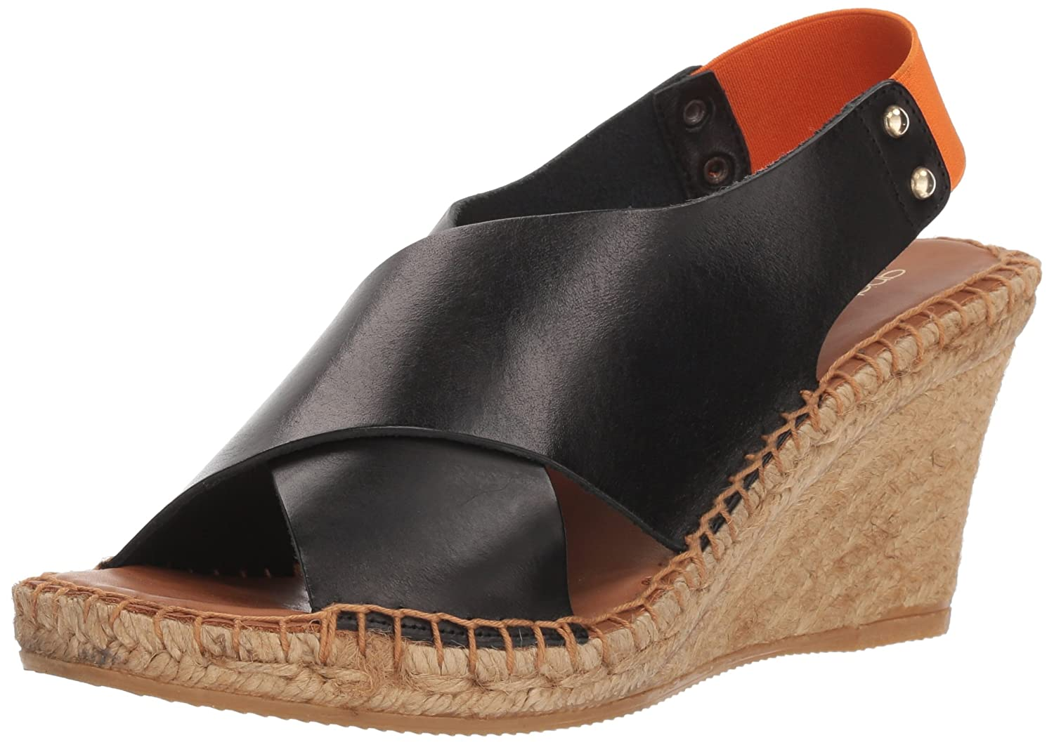 André Assous Women's Allie Espadrille Wedge Sandal B078B51NLZ 8 B(M) US|Black