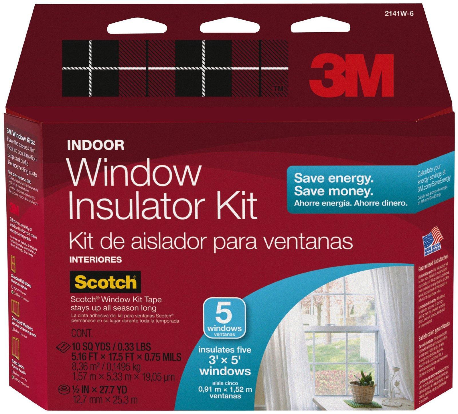 3M Indoor Window Insulator Kit, 62'' x 210''