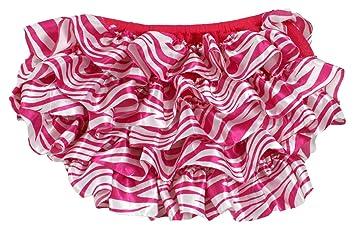 Hot Pink Zebra Satin Diaper Cover
