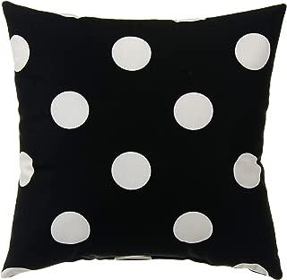 product image for Glenna Jean Apollo Pillow Dot, Black/White, 16 x 16 x 5 Inch
