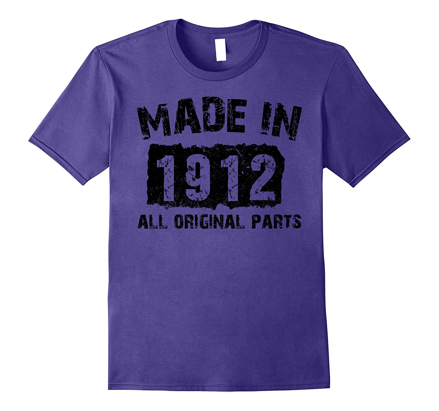 105th Birthday 105 Years Old 1912 T-Shirt-Vaci