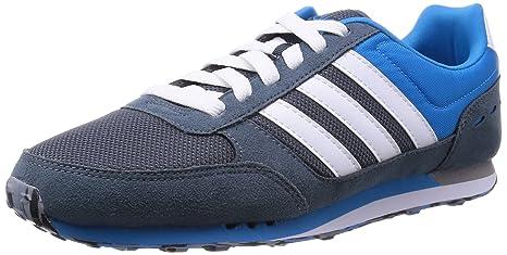 lowest price cd71a 4ed94 Adidas City Racer, Scarpe sportive, Uomo, Grigio Blu Bianco,  40.6666666666667