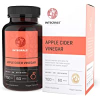 Integrals Organic Raw Apple Cider Vinegar Capsules Potent 700mg of ACV with the Mother in Every Vegan Capsule. Natural Weight Loss; Detox Digestion. Relief for Acid Reflux Powerful Intestinal Cleanser