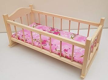 giocattolo di legno CULLA culla lettino, a dondolo letto per