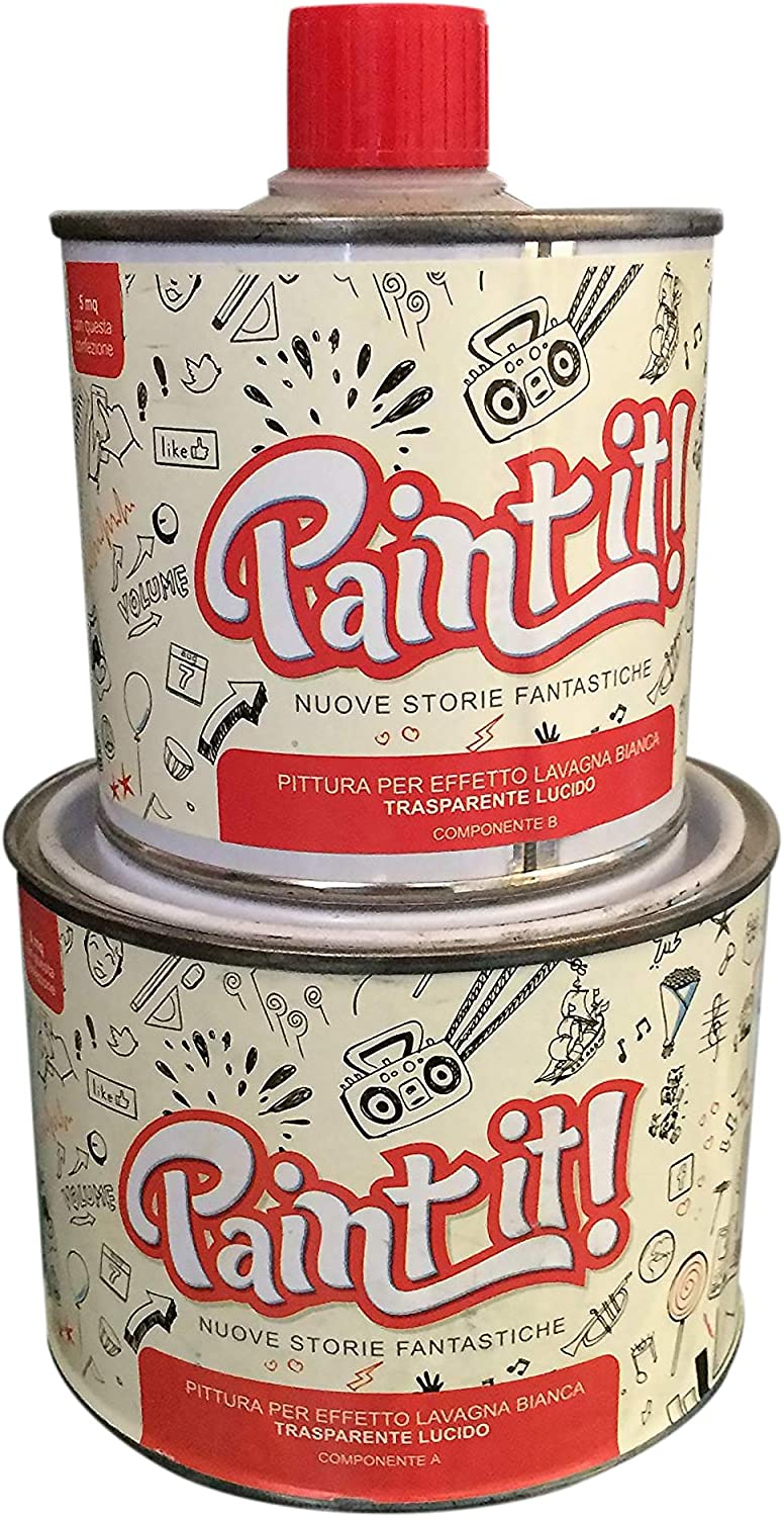 Paint It-Pintura efecto pizarra 500 ml, transparente: Amazon.es: Hogar